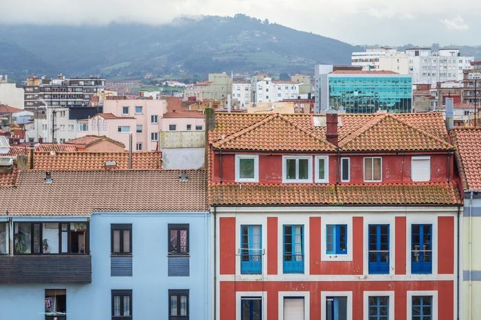 Imágen del barrio Cimadevilla en Gijón, Asturias