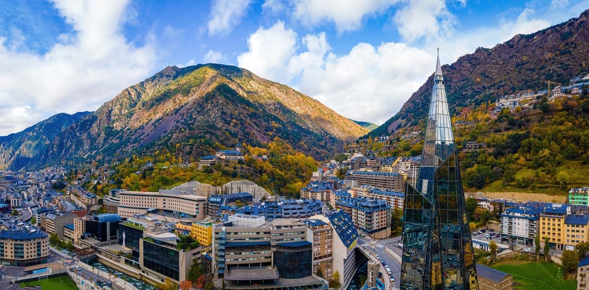 Vista panorámica de Andorra la Vella