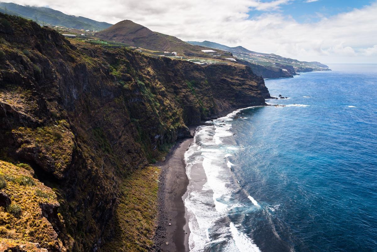 Vista aérea de la costa de La Palma - Islas canarias