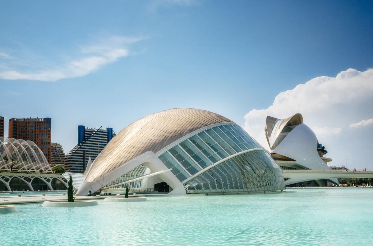 Ciutat de les Arts i  les Ciències en Valencia