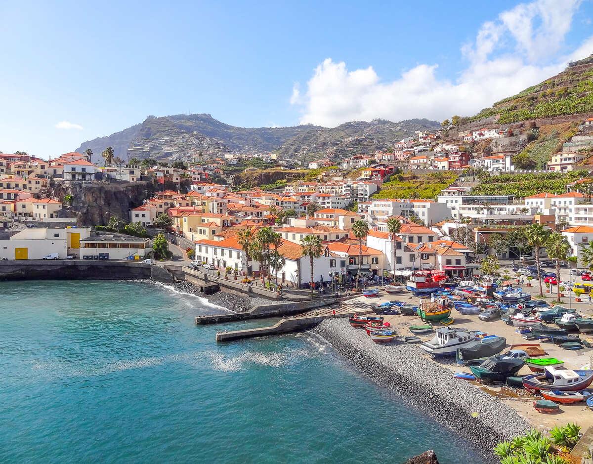 Vista panorámica de Funchal en Madeira.