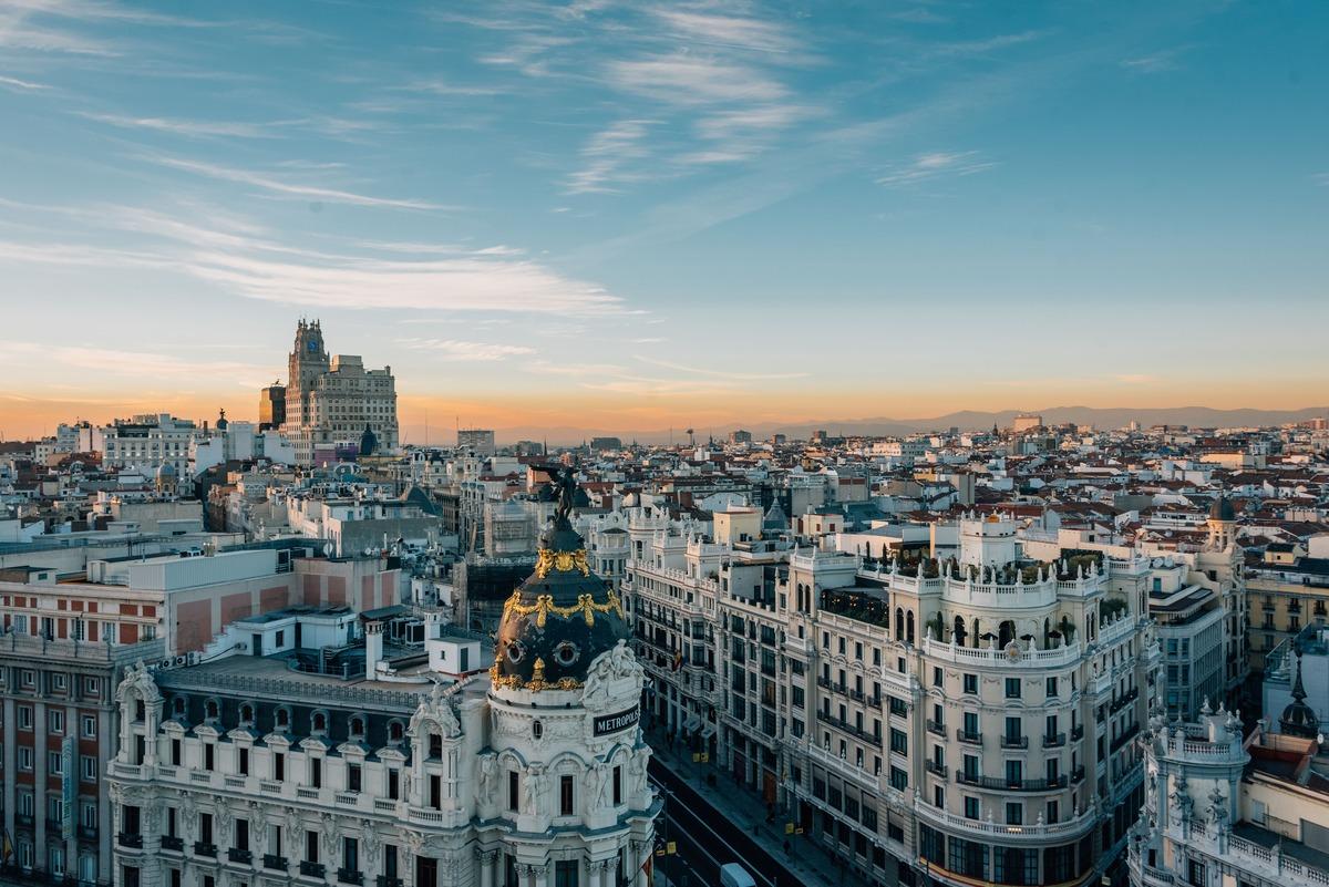 Vista panorámica de Madrid desde Gran Vía