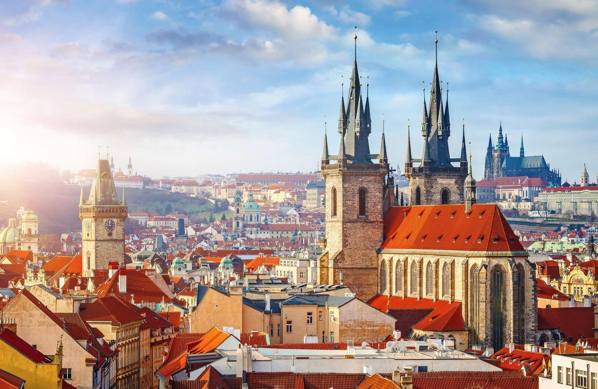 Visita aérea de Praga