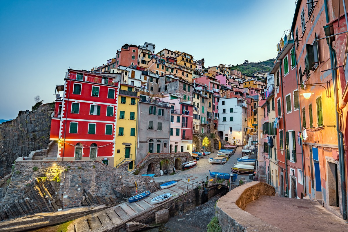 Riomaggiore, pueblo de Cinque Terre con sus características casas coloridas